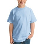 Hanes Youth Beefy T 100% Cotton Unisex Short Sleeve